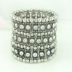 Top quality American and Europe Antique Plated Stretch Multi Rows Bracelets Crystal Elastic Bracelet Jewelry