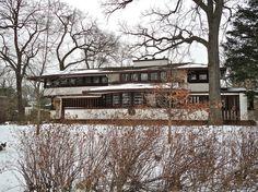 Hiram Baldwin House. Frank Lloyd Wright. Prairie Style. Illinois. Built 1905.