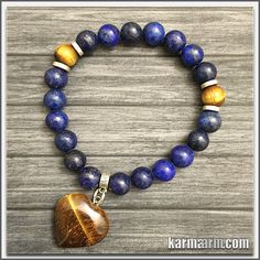 Wearing lapis is thought to help overcome shyness and timidity, bringing inner harmony and increasing your spiritual levels, whilst helping to win over the affection of others. It is also thought to enhance fidelity within marriage.  It bonds relationships, aiding in expression of feelings and emotions.  ……………. #love #organic #natural #charm  #healing #zen #men's #bracelets #women's #lucky #buddhist #buddha #aura #fitness #luck #luxury #power #energy #crystal #motivate