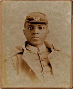 Colonel Charles Young Pictured here as Lieutenant Young with the 9th Army Cavalry - the Buffalo Soldiers.