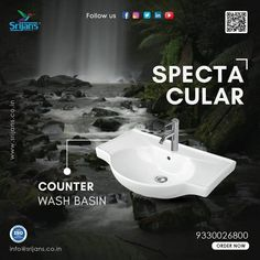 Corner Wall Wash Basin have surfaced as a popular option for the traditional pedestal washbasin. One-piece basins are gaining a huge fan following as: They're easy to install A delight to the eyes Adds a focal point #sanitaryware #x #bathroom #sanitary #tiles #bathroomdesign #interiordesign #floortiles #shower #toilet #washbasin #taps #walltiles #faucet #homedecor #buildingmaterial #plumbing #hardware #interior #faucets #design #buildingmaterials #ceramics #showers #bathroomdecor… Taps, Faucets, Corner Wall, Basins, Wall Tiles, Pedestal, Plumbing, Showers, Toilet
