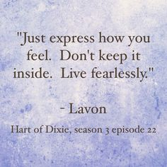 Hart of Dixie quote from 3rd season finale