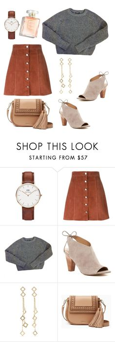 """""""browny"""" by ranie-dwi-anugrah ❤ liked on Polyvore featuring Daniel Wellington, Theory, American Apparel, Franco Sarto, Arme De L'Amour and Kate Spade"""