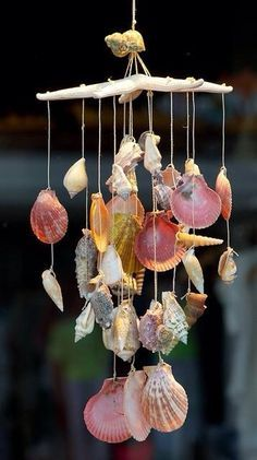 seashell wind chimes...maybe homemade?
