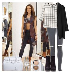 """""""Danielle Peazer"""" by irish26-1 ❤ liked on Polyvore featuring Topshop, Agnona, Alejandro Ingelmo, Rolex and PurMinerals"""