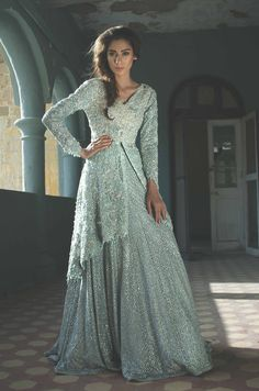 Arctic Azure (B60). For queries, orders and appointments kindly email at info@tenadurrani.com or contact +92 321 232 4600. Visit www.tenadurrani.com