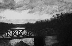 11:45 The Swollen Seine, 2013 [oil on linen 48 × 72 in 121.9 × 182.9 cm] https://artsy.net/artwork/hugo-bastidas-11-45-the-swollen-seine