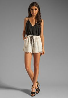 6 SHORE ROAD Malay Lace Romper in Night at Revolve Clothing - Free Shipping!