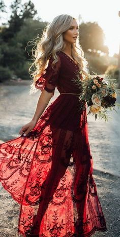 A Boho Wedding Dress as featured on Pasaboho. Shop The Latest Women's Street Fashion Outfit Ideas featuring Boho chic hippie fashion gypsy style clothing and apparel store. Available for retail and wholesale. Shop this look ! Look Fashion, Autumn Fashion, Womens Fashion, Gypsy Fashion, Dress Fashion, Fashion Outfits, Trendy Fashion, Latest Fashion, Fashion 2017