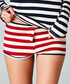 Red & White Stripe Sasha Shorts | something special every day