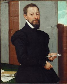 Giovanni Battista Moroni, Portrait of Giovan Pietro Maffeis Vienna, Kunsthistorisches Museum, via Realm of Venus Renaissance Fashion, Italian Renaissance, Italian Painters, Italian Artist, Kunsthistorisches Museum Wien, Potrait Painting, Republic Of Venice, Renaissance Portraits, Religious Paintings