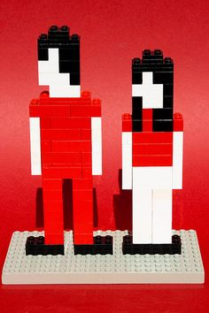 fell in love with a girl legos from the video. To go in the corner of my Lego men shadow box Jack White Meg White, Black White Red, Seven Nation Army, Lego Girls, Lego Man, Collage, Lego Figures, The White Stripes, Shades Of White