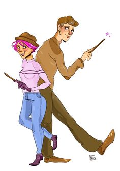 Remus and Tonks  by Van's Scribbles