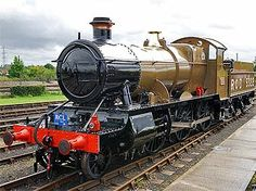 GWR 2-6-0 5322 train, Didcot Railway Centre, Didcot, Oxfordshire, England