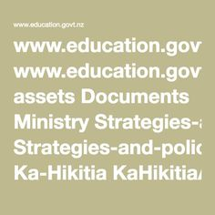www.nz assets Documents Ministry Strategies-and-policies Ka-Hikitia KaHikitiaAcceleratingSuccessEnglish. Inclusive Education, Education Policy, Document, Special Education, Ministry, Pdf, Learning, Infant, Articles