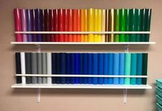 Best Craft Room Vinyl Storage Curtain Rods Ideas - Best Craft Room Vinyl Storage Curtain Rods Ideas Best Picture For craft storage tower For - Craft Room Storage, Craft Room Decor, Craft Room Design, Cricut Craft Room, Craft Organization, Diy Vinyl Storage, Cricut Vinyl, Office Storage, Storage Boxes