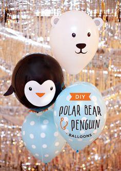 DIY+Penguin+&+Polar+Bear+Party+Balloons