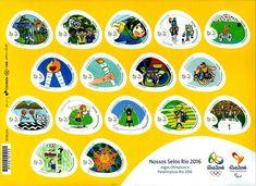 Francobollo: Our Rio 2016 Stamps (Brasile) (Francobolli Our Rio 2016 – Giochi olimpici e Paralimpici) Mi:BR 4386-4401FB,Yt:BR 3549-3564,RHM:BR C-3595-3610