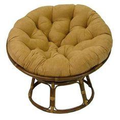 Blazing Needles Papasan Lounge Chair Cushion Fabric: Java, Size: W x D Papasan Cushion, Papasan Chair, Cushion Fabric, Cushion Pillow, Swivel Chair, Lounge Chair Cushions, Chair Upholstery, Outdoor Cushions, Chair Fabric