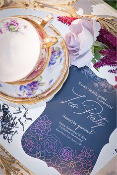 dark and romantic tea party ideas