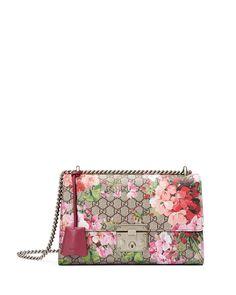 Padlock Blooms Shoulder Bag, Multi Rose - Gucci