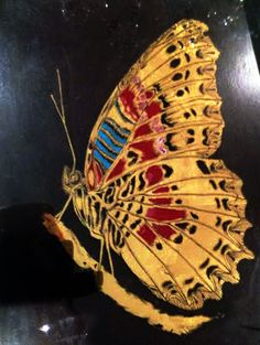22k Gold leaf, Gilded glass and polychromes