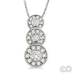 1/2 Ctw Diamond Pendant in 14K White Gold with chain.  Follow Renaissance Fine Jewelry or see us at www.vermontjewel.com