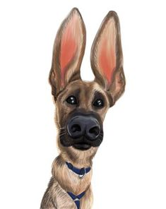 Dog Caricature - Order From Photo Online (+ Examples) Cartoon Dog, Cartoon Drawings, Animal Drawings, Dog Drawings, Caricature Artist, Caricature Online, Caricature Examples, Custom Dog Portraits, Pet Portraits