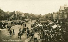 Romford market 1903 Happy Fox, Local History, Paris Skyline, England, Street View, London, Marketing, Places, Travel