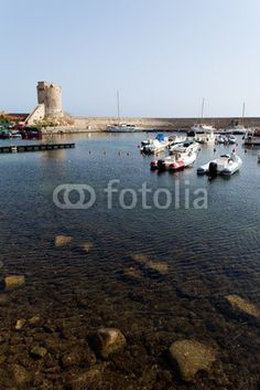 Stock photo available for sale at Fotolia: Tranquil Port Of Marciana Marina