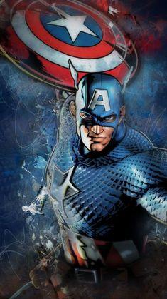 Captain America Artwork HD Superheroes Wallpapers Photos and Pictures Avengers Superheroes, Marvel Heroes, Marvel Avengers, Captain America Art, Captain America Wallpaper, Wallpaper Marvel, Mobile Wallpaper, Superhero Background, Comic Art