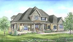 Plan 24346TW: Luxurious European Home Plan