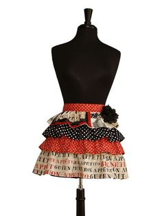 Ruffled Apron, bottom apron is longer than all the others - Etsy.