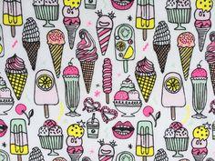 Ice Cream - Summery, neon, ice cream fun from Rico Design.