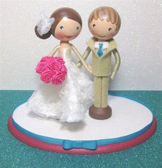 Custom Wedding Cake Topper  Oval Base by enchantedbelles on Etsy, $130.00