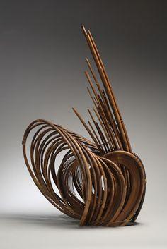 Bamboo art by Kazuaki Honma, Japan Ikebana Flower arrangement Art Floral, Floral Design, Bamboo Art, Bamboo Crafts, Bamboo Weaving, Weaving Art, Japan Design, Japanese Bamboo, Japanese Art