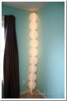 chambers for all those paper lanterns you have! Rope light through paper lanterns = inexpensive yet quirky lighting!