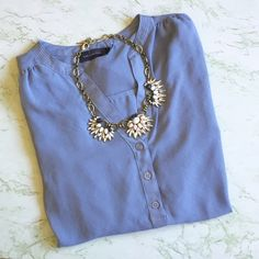 The Limited Blouse In good condition, it has one small stain as shown in the last photo but it is honestly not noticeable. It's one of my favorite workplace/casual wear blouses. It's a size small but is loose in style so it can fit like a size medium as well. Fee free to ask any questions!                            ✅ Offers welcome (use offer button)  ✅ Bundle 2 or more items for 15% off   Free gift with purchases of $20+  ❌ No trades  ❌ No holds The Limited Tops Blouses