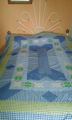 Tendido para cama bordado español