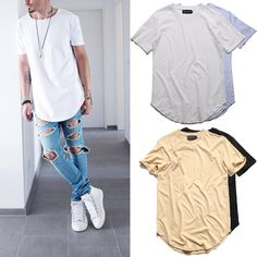 2016 Justin Bieber Curved Hem T shirt Hip Hop  Men Extended Skate T shirt for Men Solid Longline Mens Tee Shirts Kanye West-in T-Shirts from Men's Clothing & Accessories on Aliexpress.com   Alibaba Group