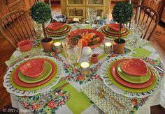Lovely Fiesta Table Setting
