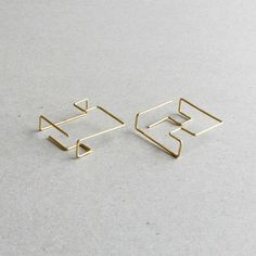 Earrings Design | Architectural Lines