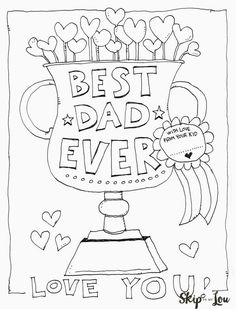 Happy Fathers Day Cut Out Coupons for Dad Coloring Page for Kids