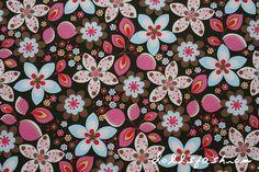 Stoff Blumen - Hilco - Jackenstoff Floir Outside 0.5m - ein Designerstück von dollsfashion bei DaWanda
