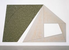 Green Tilted Ellipse - Gray Frame - Robert Mangold