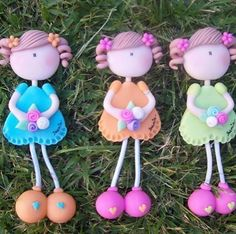 Net Polymer Clay People, Polymer Clay Figures, Cute Polymer Clay, Polymer Clay Dolls, Cute Clay, Polymer Clay Projects, Polymer Clay Creations, Polymer Clay Jewelry, Crea Fimo