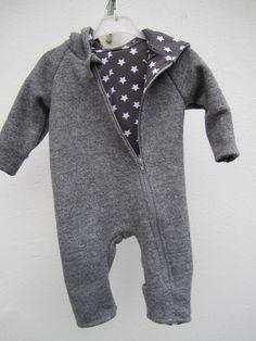Anzug für Kinder, 100% Baumwolle // walkoverall for babies, 100% cotton via DaWanda.com