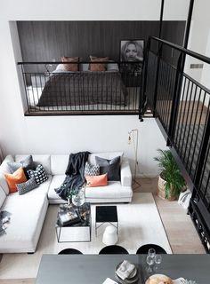 Un loft design dans un bâtiment ancien - PLANETE DECO a homes world Loft Design, Loft Interior Design, Tiny House Design, Deco Design, Modern House Design, Modern Interior Design, Design Case, Design Homes, Design Design