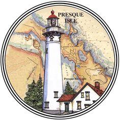 Presque Isle, MI Conjunto de 4 Posavasos