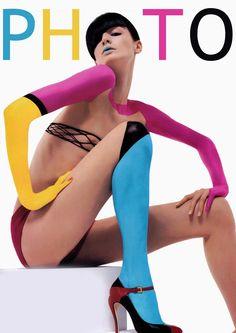 Numero April reprint at Photo magazine Stephanie Seymour, Color Mixing, Color Pop, Colour Colour, Subtractive Color, Erin O'connor, Concours Photo, Under The Rainbow, We Will Rock You